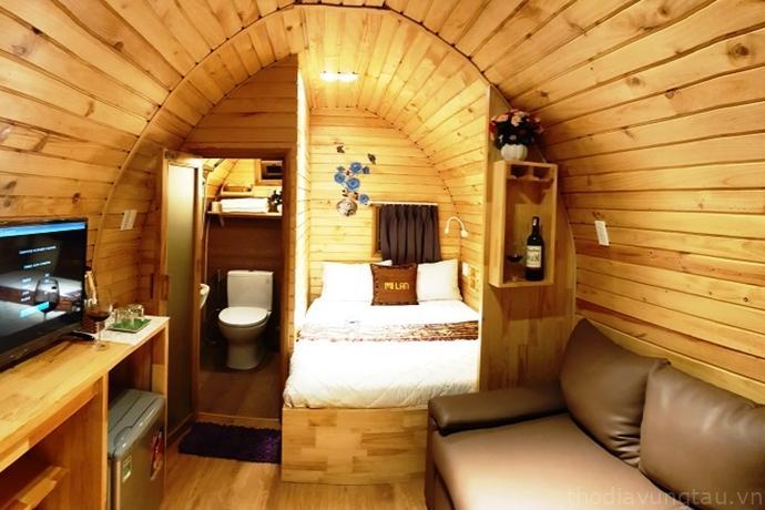 phòng ngủ ở Mi Lan Villa Hotel
