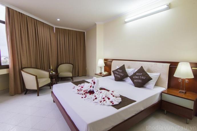 phòng ngủ ở Khách Sạn P&T Vũng Tàu