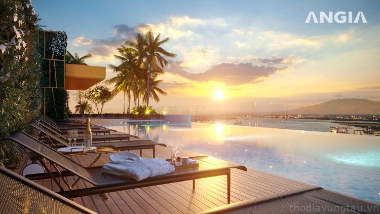 hồ bơi căn hộ The Sóng Vũng Tàu