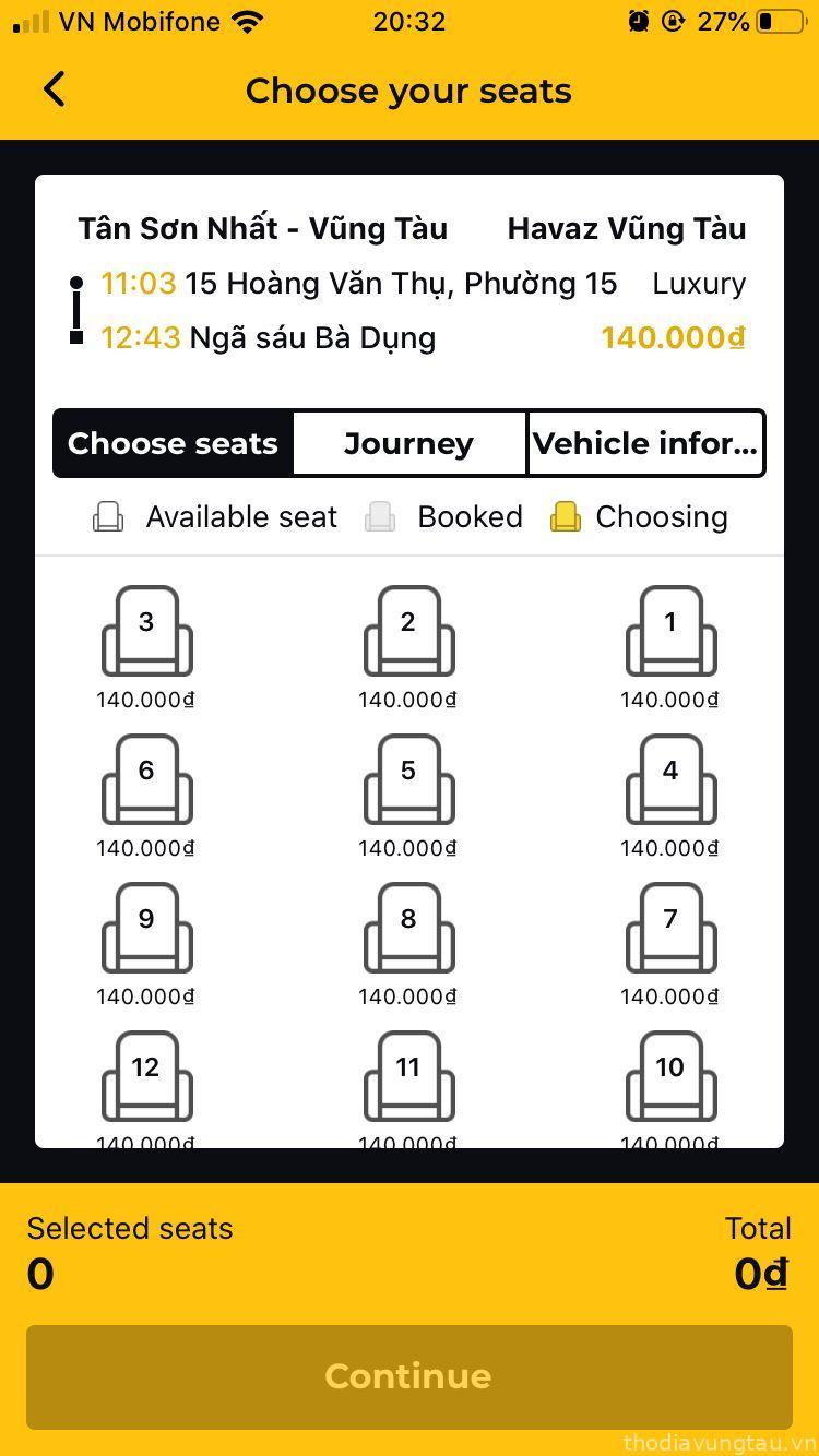 app xe Hải Vân