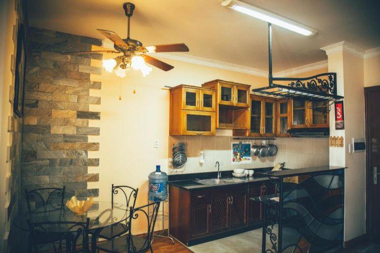nhà bếp tại homestay
