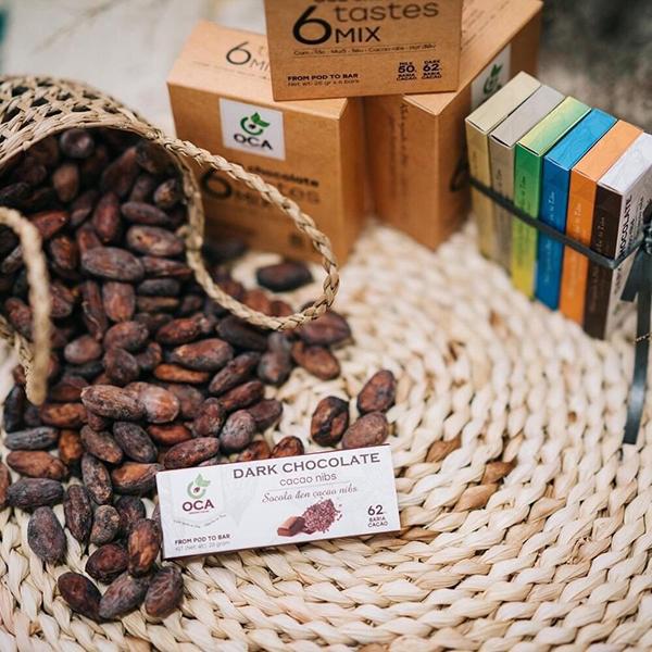 Những thanh Socola mang thương hiệu OCA Cacao & Chocolate được ưu ái gọi tên như một đặc sản Vũng Tàu